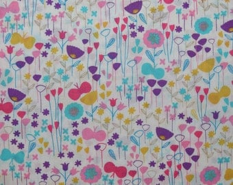 London Calling Sweet Floral Cotton Lawn Fabric from Robert Kaufman sold in 1/2 yard invcrements
