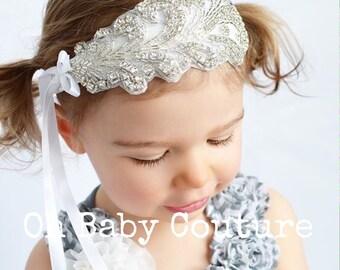 Infant Baby Newborn Rhinestone Headband  for Girls Baby Newborn photo prop Wedding Photo Shoot