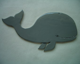 MOBY DIRK - Large WHALE Tile - Ceramic Mosaic Tile