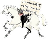 Ride and Fall Horse Art Print