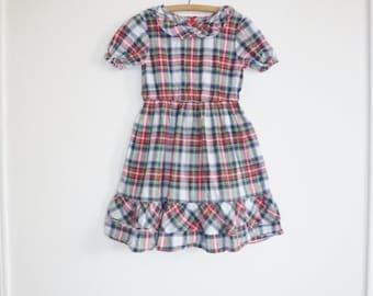 SALE // Vintage Plaid Girl's Dress