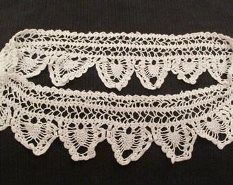 """Vintage white lace 30"""" x 3 3/4"""""""