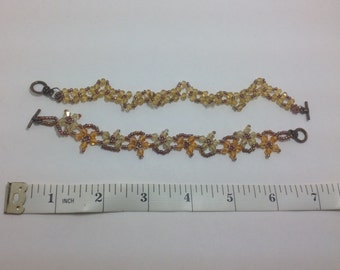Amber and Brown bracelets
