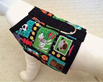 Colorful Blocks Dog Harness Vest