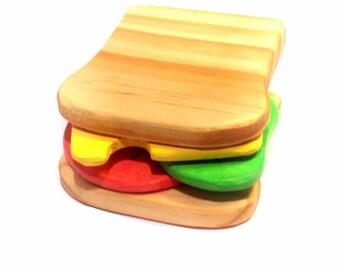 Wooden toy Sandwich %100 non toxic paint