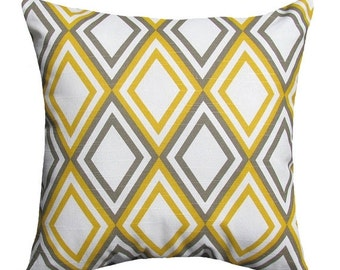 Premier Prints Annie Corn Yellow and Kelp Slub Diamond Decorative Throw Pillow Free Shipping