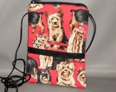 Sling Bag Purse - Passport Purse - Wallet on a String - Yorkie - Yorkshire Terrier