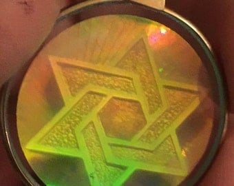 Awesome 1960s Hologram Pendant STAR of DAVID Design