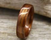 Hawaiian Koa Bentwood Ring - Handcrafted Wooden Ring