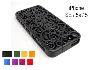 Made-To-Order iPhone SE / 5s / 5 (3-4 weeks) Designer Victorian Filigree Swirl Puzzle Case (3D printed) - 8 color options