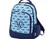 Monogrammed Backpack - Finn Print- Now Marked 1/2 Price!!