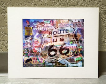 The Mother Road 16 x 20 Matted Print - Route 66