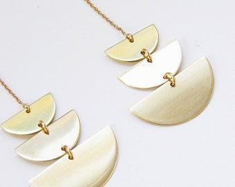 Moon Phase Gold Earrings