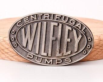 Vintage Wilfley Centrifugal Pump Denver Colorado Belt Buckle