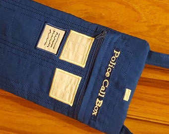Blue Police Call Box Who Day Purse Quilted Womens Girls