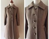 vintage BOOK SIGNING wool coat / vintage 1970s tailored coat