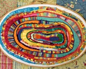 Abstract Ovals Embroidery Hoop Art