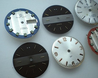 6 vintage watch faces (DB6)