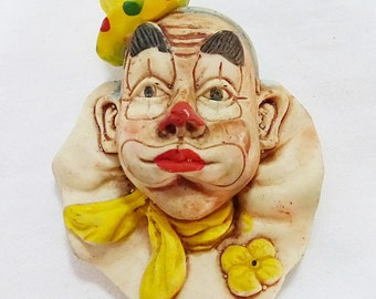 Vintage ohio cedar point travel souvenir fridge magnet clown hobo