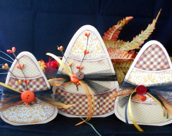 Candy Corn Decor-Thanksgiving-Set of 3-Wood Candy Corn-Home Decor-Fall-Shelf Sitter-Thanksgiving Table Decor-Halloween-