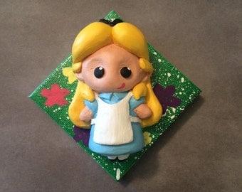 Alice in Wonderland ooak wall sculpture