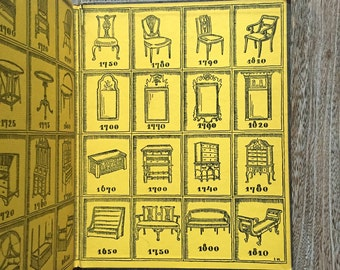 Antique Furniture Design Reference - 1925 1st Edition - ANTIQUES by Sarah Lockwood - Illustrated - Interior Design Historical Reference