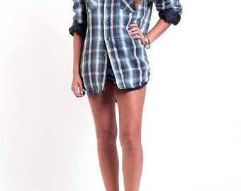 35% OFF SUMMER SALE The Plaid Flannel Grunge Button Down Shirt