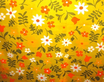 VHY Hawaiian Textiles Fabric-3 yards-50's fabric-Floral-Mod