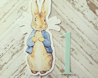 Peter Rabbit Cake Topper- smash cake, first birthday