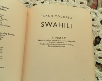 Teach Yourself Swahili vintage language book 1969