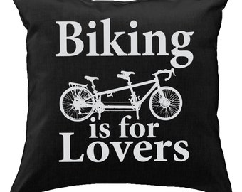 Biking is for lovers tandem bicycle - Throw Pillow