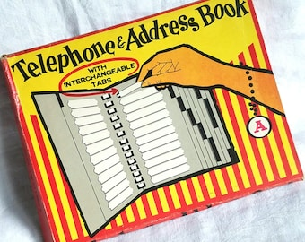 Vintage Telephone & Address Book with Interchangeable Tabs