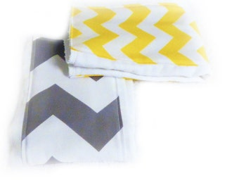 Chevron Burp Cloths - set of 2 - Your Choice or Boy Diaper Burp Cloth // Cotton Burp Cloths // Baby Shower Gift // Gift for Baby