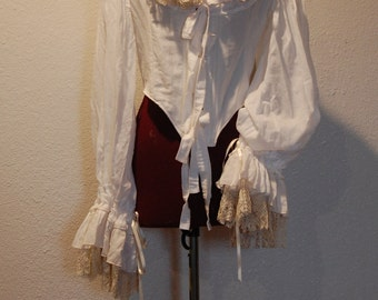 Saved for Hannah Marie Antoinette Victorian inspired rococo costume chemise peasant top bodice