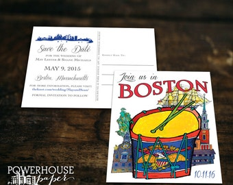 Save the Date Postcard Boston