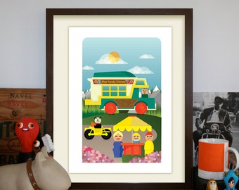 Fisher Price Family Play Camper Playset A3 Artprint
