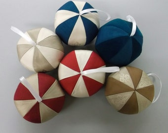 Silk Ball Fabric Ornaments