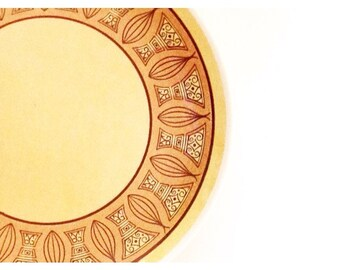 Mid Century Ironstone Serving Platter / Retro Onion Tray / Vintage Appetizer Plate