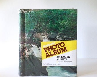 Sealed Vintage Photo Album / Retro Forest Landscape Book / Vintage Unused Photo Album