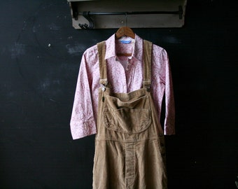 Vintage Overalls Corduroy Tan From Dr Martins Medium Oversize 90s Grunge Vintage From Nowvintage on Etsy
