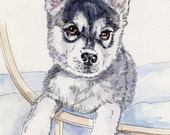 KLEE KAI II Original Watercolor on Ink Print Matted 11x14 Ready to Frame