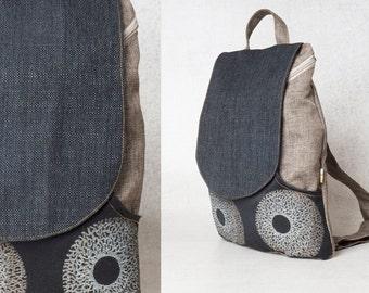 black backpack bag - backpack canvas backpack laptop backpack pattern  - backpack women - laptop bag women backpack
