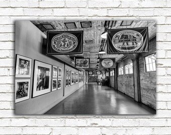 Brewery photo, large wall art, black and white, masculine decor, gifts for him, San Francisco photography, Anchor Brewing, greenpix beer art