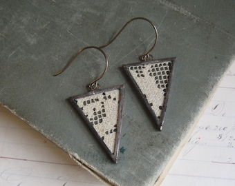 Lace Triangle Earrings Boho Jewelry