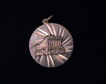 Vintage Sterling 950 Athens, Greece Parthenon Charm