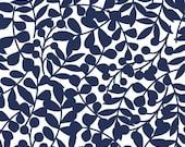 Flannel, Organic, Cotton, Baby, Boy, Girl, Fabric, Yardage, First Light, Navy, Dark,Blue, Branch, Leaves, Woodland, Cloud 9, Choose Your Cut