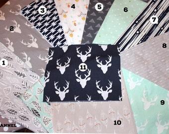 Baby, Rag, Quilt Kit, DIY, Cotton, Quilt, Blanket, Kit,Navy,Mint,Blue, Grey,Gray, Modern,Rustic, Deer,Unisex, Girl,Boy,Choose Your Colors