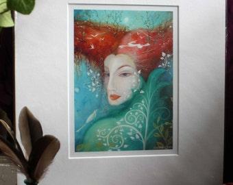 A fairytale  art print .'Tree Lady' by Amanda Clark