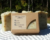 TLC Soap - Tea Tree and Lavender Soap - French Green Clay Soap - Acne Soap - Soap for Oily Skin - Tea Tree Soap - Lavender Soap