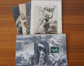 Set of Five Joan of Arc Themed Antique French Post Cards